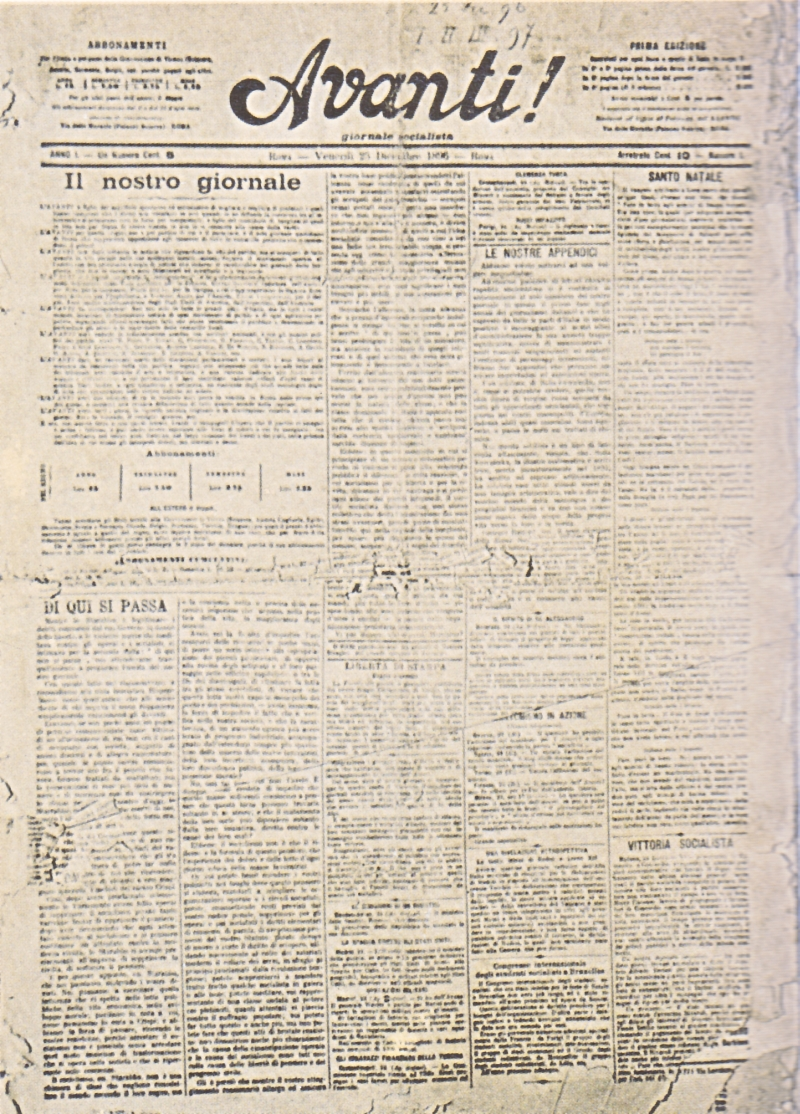 Avanti n.1 del 25 dicembre 1896