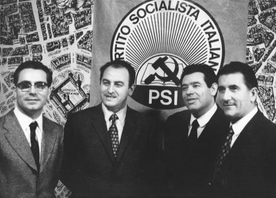 Da sinistra Colucci, Mosca, Artali, Aniasi.